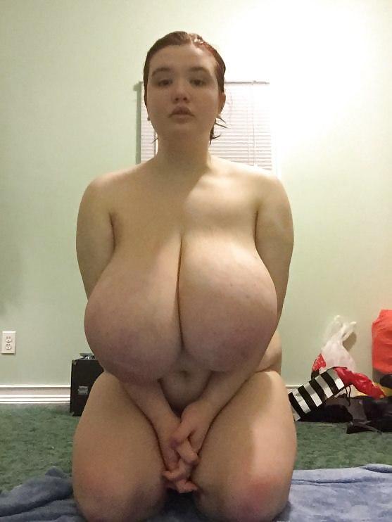 Chubby girl with huge hangers - 46 Pics -
